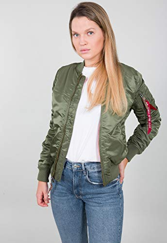 ALPHA INDUSTRIES MA-1 VF 59 Wmn - Giacca bomber da donna Verde (Sage Green 01) S