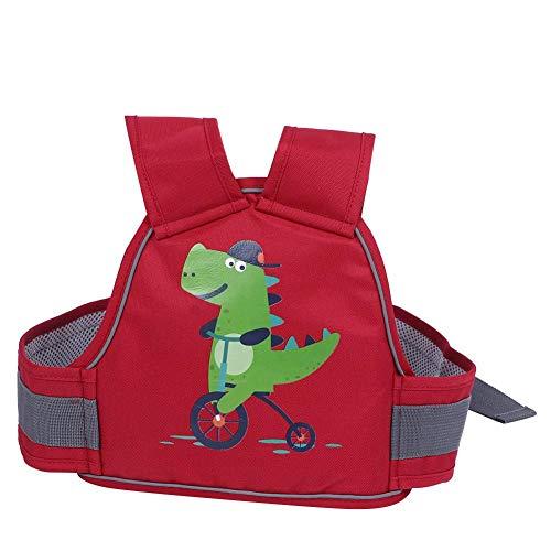 Bambini Cintura Sicurezza per Moto Regolabile Confortevole Imbracature Sicurezza per Motociclo Bicicletta Imbracatura di Sicurezza per Bambini per Motociclette per 1-10 anni Ragazzo Ragazza (Rosso)