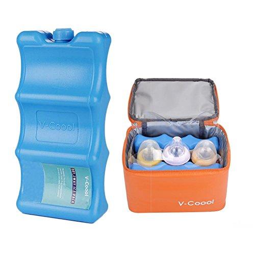 IJsblokjes-set voor kindermelk, herbruikbaar, voor de opslag van melk, set met profielen voor verse melk, koelkast, vervoer van ijsblokjes 20 x 5,2 x 10,5 cm