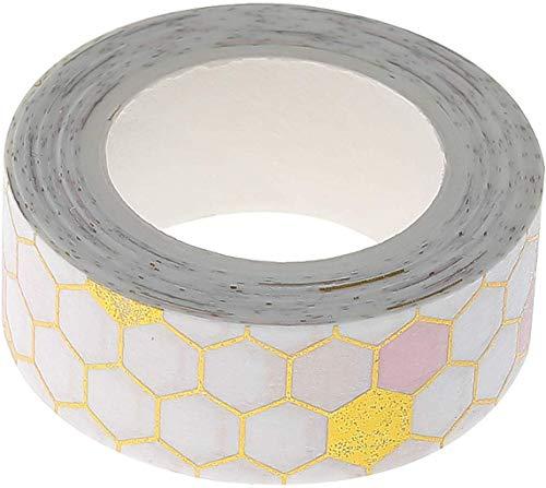 Jyuesi Geprezen 1 Stks 10/15/20/30mm*5m Roze Goud folie Washi Tape Set DIY Decoratieve Scrapbooking Sticker Planner Masking Plakband Label F