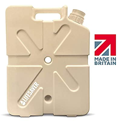 LifeSaver Jerrycan 20,000 Liter Water Purification System in MilSpec Tan - Perfect for Camping, Emergency Preparedness