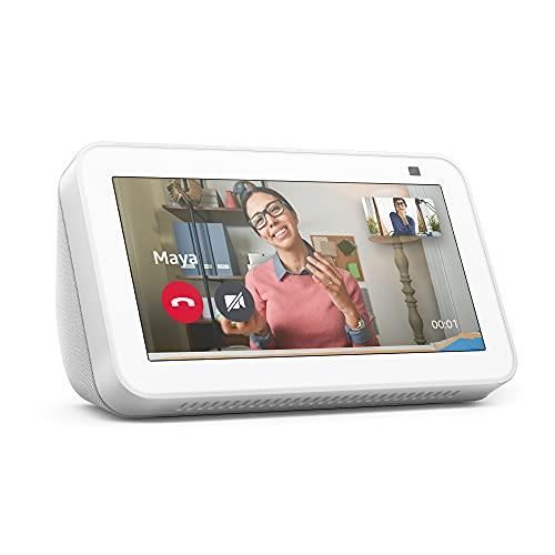 Nouvel Echo Show 5 (2e génération, modèle 2021) | Écran connecté avec Alexa et caméra 2 Mpx | Blanc