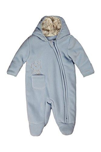 Kanz Unisex Baby Fleeceoverall m. Kapuze Schneeanzug, Blau (skyway blue 3018), 68