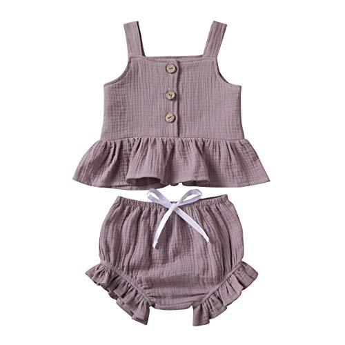 Fossen Ensemble de 2 vêtements d'été pour bébé fille 1...