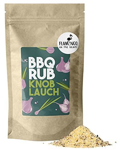 BBQ RUB Knoblauch - Gewürzmischung aus hochwertigen Zutaten - Hühnchen, Schwein, Rind, Gemüsepfannen - 250 g im nachhaltigen Papierbeutel - FLAMINGO ON THE BEACH (Knoblauch)