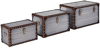 3-Pack Amazon Brand Stone & Beam Mid-Century Modern Storage Trunk