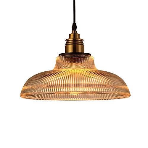 DKee E27 Pantalla De Lámpara Plafón De Estilo Retro País De América Minimalista Lámpara De Araña De Cristal(sin Bombilla) lámpara de Techo (Color : Amber)