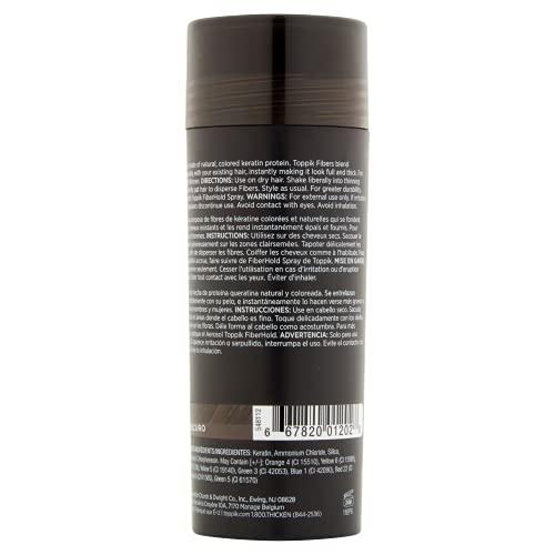 Toppik Haarpulver mit Haaraufbaufasern, Mittelbraun, aus Keratin Gewonnene Fasern für Natürlich Voller Aussehendes Haar, 27,5 g
