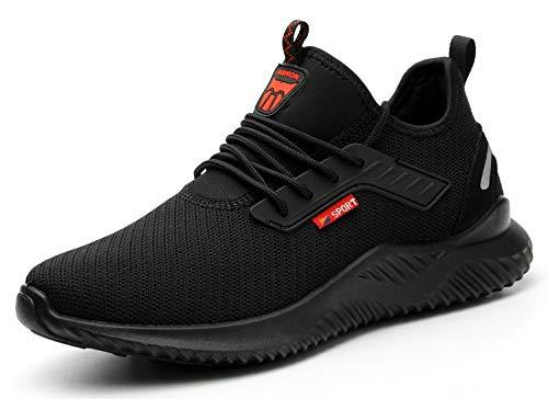 KENDOO Arbeitsschuhe Sicherheitsschuhe Herren Damen Socken Schuhe Leichte Atmungsaktive S28 Schutzschuhe Sportlich mit Stahlkappe & Stahlsohle