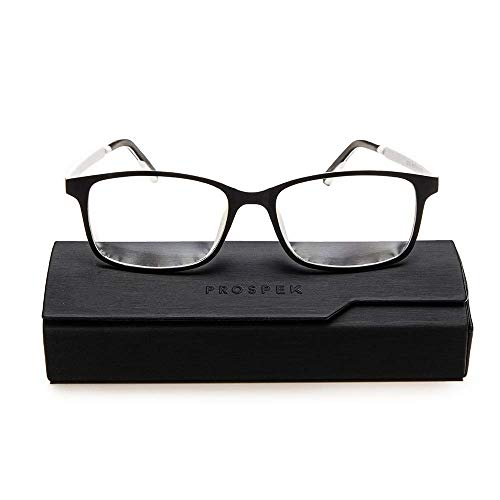 Blue Light Glasses PROSPEK, Reading Model Arctic (+2.00 Magnification) for Women and Men, Anti Glare Clear Lens, Protect from Screen's Blue Light, 50% Blue Light Blocking High Optical Quality Lenses