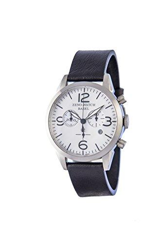 Zeno Reloj Cronógrafo para Hombre de Cuarzo con Correa en Cuero 4773Q-I9