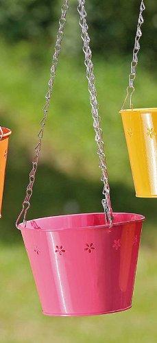 Pflanztopfhänger Sol Metall rosa/ pink D 15 cm Blumenampel Hängeampel Hängetopf