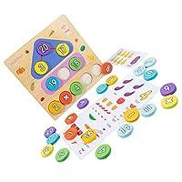 iplusmile モンテッソーリのおもちゃ幼児木製ナンバーブロック数学カウント形状選別機パズルボードジグソーパズル就学前教育学習感覚活動おもちゃ幼児のための