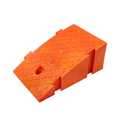 Rampas De Acera Plástica, Antideslizante Pueden Ser Empalmados Rampas De Estera De Umbral Ligero Rampas De Rampas De Acoplamiento Para Motocicletas Para Silla De Ruedas.(Size:16CM,Color:naranja)