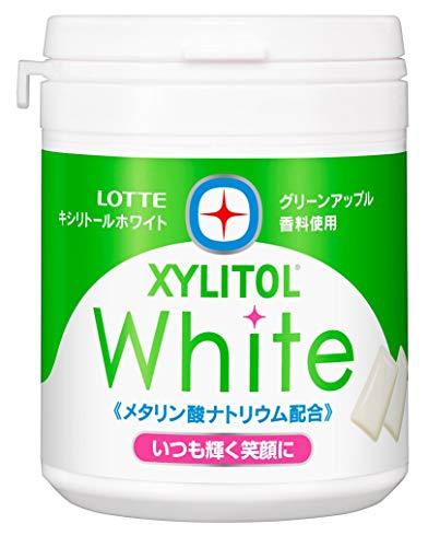 ロッテ キシリトールホワイト(グリーンアップル) ファミリーボトル 143g