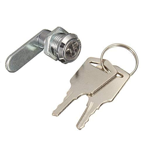 BAIJIAXIUSHANG-TIES Práctico Armario de Seguridad Cerraduras de Puerta del Armario de la Leva del Cilindro cerraduras de Las Puertas del gabinete Buzón cajón con 2 Llaves de Hardware