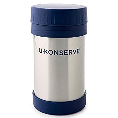 U-Konserve - Insulated Food Jar, Keeps Foods and Liquids Hot or Cold for Hours, Double-Walled and Vacuum Insulated, Dishwasher Safe (Navy)