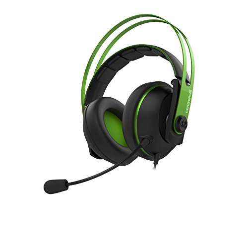 Asus Cerberus V2 Headset Essence 53mm Drivers, Stainless-Steel Headband With Dual Microphones Ps4/Xbox One/Mobile Device/Pc/Mac Cross Platform
