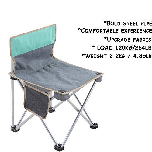 YiLuFanHua Silla De Jardín Silla De Camping, Sillas Plegables Portátiles Ultraligeras con Bolsa Portavasos De Transporte para Mochileros Senderismo Picnics Peces 120kg,Verde
