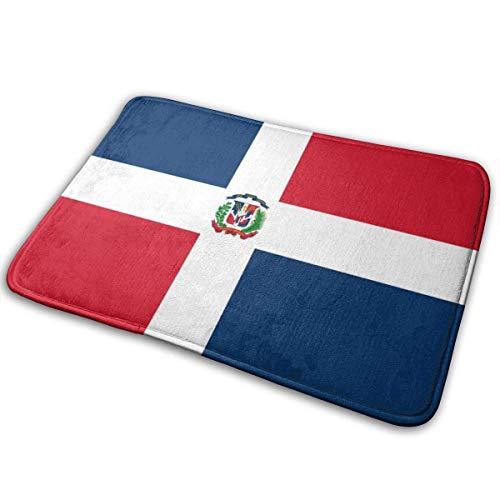 Sheho Felpudo Antideslizante Bandera de la República Dominicana Alfombrilla de Puerta Alfombrillas de Bienvenida Alfombra Felpudo de Entrada para el Suelo para Interiores/Exteriores