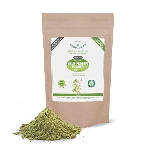 Hempiness Organic Premium Raw Hemp Protein Powder 500g (54% Vegan Protein)