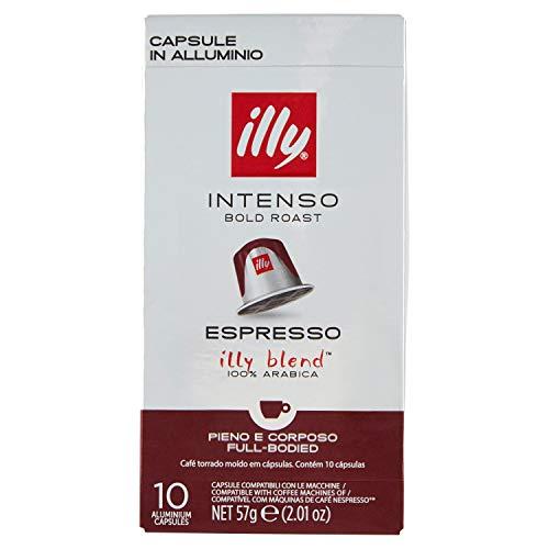 ILLY INTENSO CAFÉ ESPRESSO - 10 CÁPSULAS COMPATIBLES NESPRESSO ·
