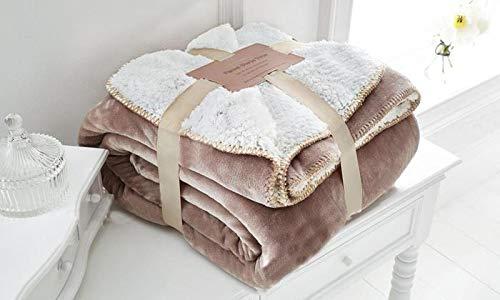 EDS Mink weiche Sherpa Schlafsofa Decke Kleine Abmessungen, geringes Gewicht und All Season Werfen/Decke für Bett und Couch, (Mink, klein)