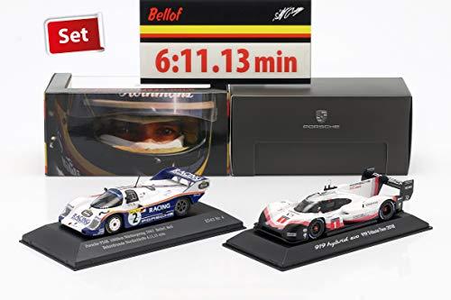 Spark 2-Car Set Porsche 919 Hybrid und Porsche 956K Rekordrunde Nürburgring 2018 / 1983 1:43, CMR