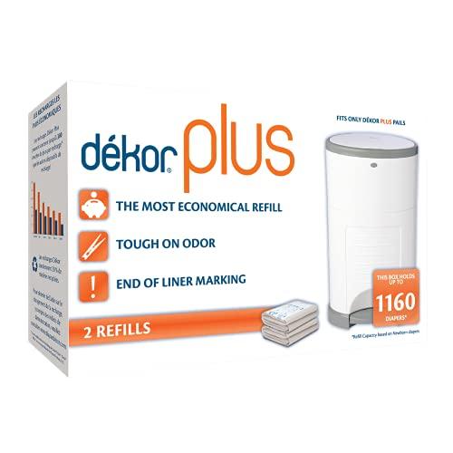 Dekor Plus Diaper Pail Refills | Most Economical Refill System | Quick & Easy to Replace | No Preset...