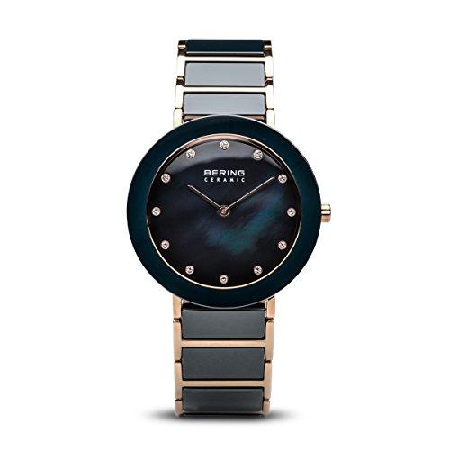 BERING Damen-Armbanduhr Analog Quarz Edelstahl 11435-767
