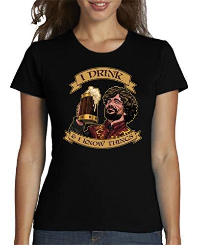 The Fan Tee Camiseta de Mujer Juego de Tronos Tyrion Snow Dragon Daenerys Stark 077 L