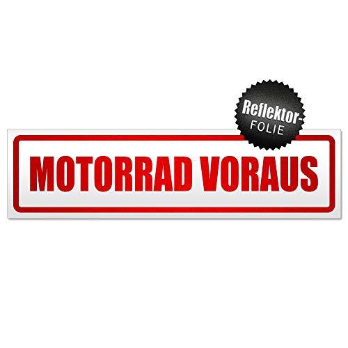 Kiwistar Motorrad voraus Motiv 1 Magnetschild Schild magnetisch