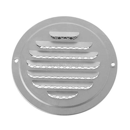 zheilou-ventilación del capó Acero Inoxidable de la Pared Exterior de la Rejilla del Aire, Ronda de conductos de ventilación Rejillas, Aug28 Whosale de Dropship Fácil de Instalar (Color : 120mm)