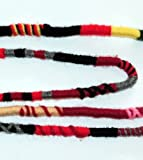 Red Color Scheme Hippie Hair Extension, Qty: 1 Dreadlocks Accessory, Dread Wrap, Hair Fall, Hair Wrap, Colorful Accessories for Dreads, Braids, Curls