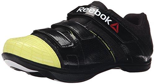 Reebok Men's Attack U Cycling Shoe, Black/High Vis Green/White, 10.5 M US