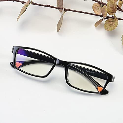 Gafas de Lectura HD,Gafas de Lectura Cuadradas con Marco Negro,Gafas de Lectura para Hombres y Mujeres,Luz Anti-azul,Cómodas y Ligeras,Visión Ultra Clara,+1.00,+1.50,+2.00,+2.50,+3.00,+3.50,+4.00
