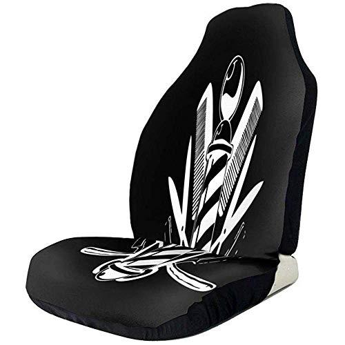 Alice Eva Barber Store Car Seat Cover Protecteur De Siège De Voiture 2pcs Universel