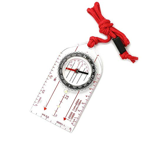BD.Y Haute qualité Portable Compass Multifonction en Plein Air Directionnel Survie Vitesse avec Carte Règle Étanche Anti-Choc pour La Navigation Extérieure