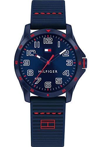 Tommy Hilfiger Unisex Kinder Analoger Quarz Uhr mit Silicone Armband 1791667
