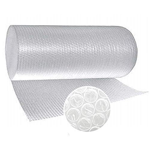 Papel burbujas embalaje, 50 cm de ancho x 20 m lineales, rollo de plastico de triple capa, mayor resistencia y durabilidad, ideal para acolchar y amortiguar cualquier producto.