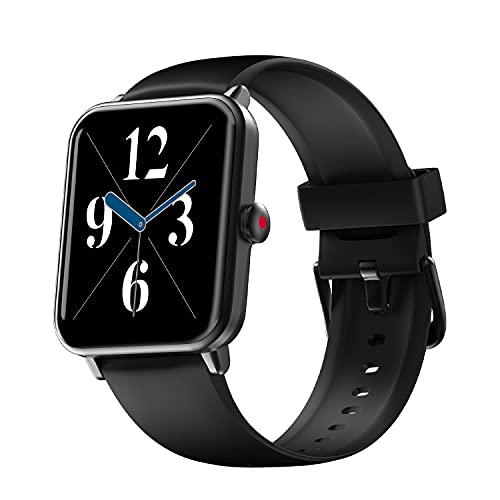 """Noise ColorFit Pro 3 Spo2 Smart Watch with Built-in Oximeter Function (for Blood Oxygen Measurement), 1.55"""" HD Display with Sleep & Stress Monitor (Jet Black)"""
