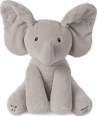 "GUND 6059278 - Baby GUND Animated Flappy the Elephant Stuffed Animal Plush, Grey, 12"" from Spin Master"
