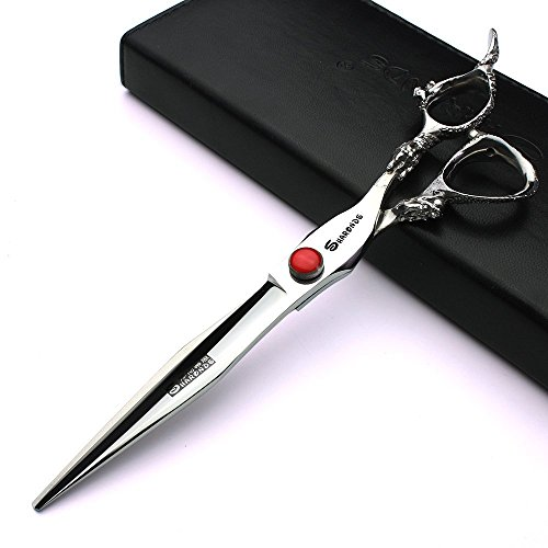 Professional 7.5 inch hair scissors japan 440C dragon pattern handle