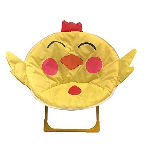 Silla Plegable JYSPT para niños, Silla de Dibujos Animados, Silla de Luna para casa, al Aire Libre, Playa, Camping, Silla reclinable para bebé (Bird)