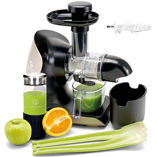 **BRANDNEU** GREEN-PRESS KERAMIK Horizontaler Slow Juicer mit Keramik Pressschnecke BPA-frei | Sellerie, Selleriesaft, Weizengras, Kräuter Grüne Detox Säfte | EINFÜHRUNGSPREIS