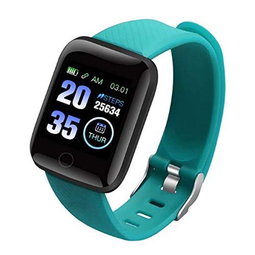 Impermeable IP68 Fitness Tracker Smartwatch Podómetro Color Screen Pulsera Actividad Reloj Inteligente Mujer Hombre, con Notificación de Llamada Monitoreo del Sueño para Android/iOS,Verde