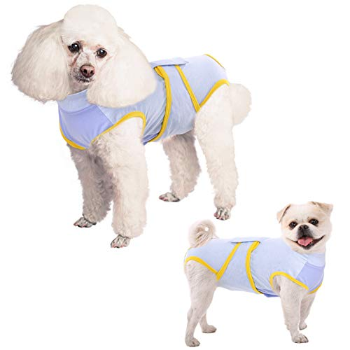 ASENKU Recovery Suit for Dogs After Surgery, Alternative E-Collars Protector Dog Cone, Anti-Licking Pet Surgical Recovery Snuggly Suit, Pet Wear Shirts for Abdominal Wounds and Skin Diseases, XL