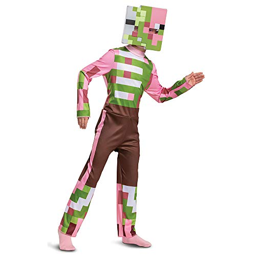 Minecraft Costume Zombie Pigman Outfit for Kids, Halloween Minecraft...