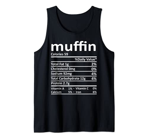 Nutricin Muffin Funny Accin de Gracias Comida Navidad Camiseta sin Mangas