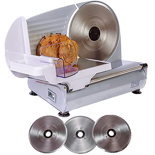 M4Y Meat Slicer   X Large 22cm Diameter Electric Food Deli Cheese Bread Specialist Cutting Machine  ...